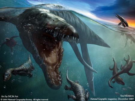 Resultado de imagen de La extinción de los pobladores del Océano y los ictiosaurios
